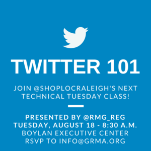 Raleighwood Media Group Twitter 101 seminar with Shop Local Raleigh
