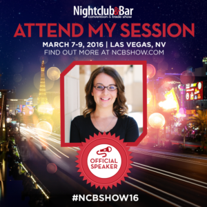 Lisa Jeffries presenting at the 2016 Nightclub & Bar Show in Las Vegas