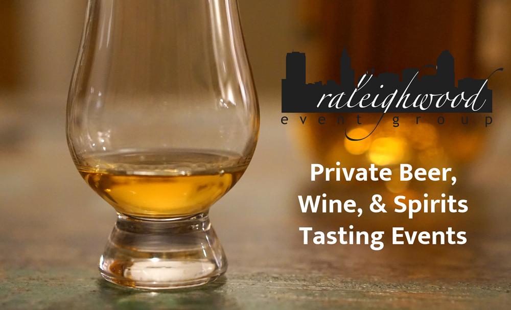 Raleighwood Event Group offers private beer, wine, and spirits tasting events