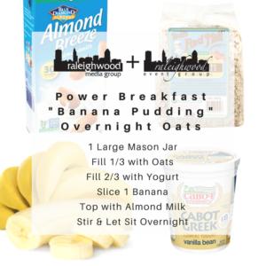 """Raleighwood Eats: """"Banana Pudding"""" Overnight Oats"""