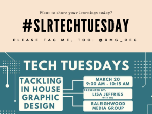 Shop Local Raleigh Tech Tuesday In-House Graphic Design with Lisa Jeffries of Raleighwood Media Group